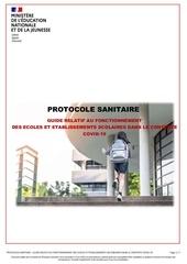 nouveau protocole sanitaire