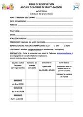 coupon de reservation aout 2020 2 2