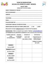 coupon de reservation juillet 2020 2