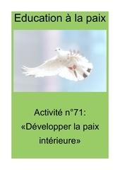 activite n71 developper la paix interieure