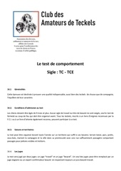 le test de comportement
