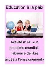 activite n74 un probleme mondial  labsence de libre acces a lens
