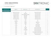 equipment list cnc machining