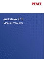 mode emploi pfaff ambition 610