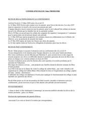 rapport conseil decole 3 eme