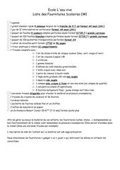 liste des fournitures scolaires cm1