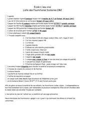 liste des fournitures scolaires cm2