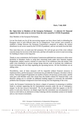 cevis letter to meps   a eu financial support for the wine secto
