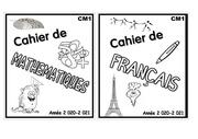 page de garde cahier math et francais cm1