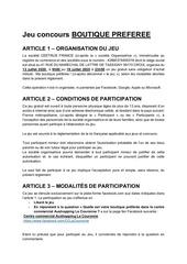 reglementjeuboutique preferee lcjuillet20