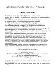 meditation planetary life sphere protocol