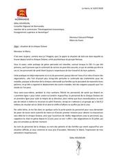 lettre au maire du havre