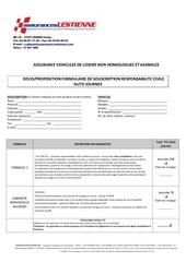 assurance formulaire participant