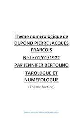 theme numerologique de dupond pierre jacques francois par jennif