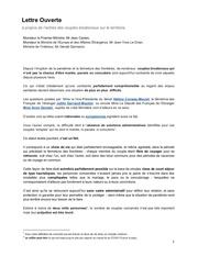 lettre ouverte aux ministres couples binationaux