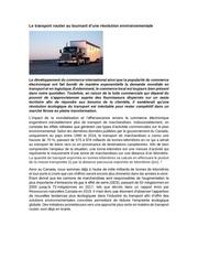 article revolution environnementale transport routier