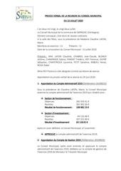 proces verbal de la reunion du conseil municipal