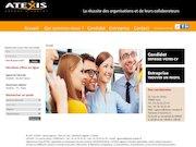 maquette du site web atexis
