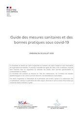 guide des mesures sanitaires et des bonnes pratiques sous covid