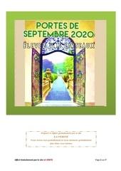portes de septembre  2020