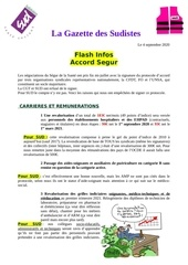 la gazette des sudistes flash infos accord segur 17septembre 202