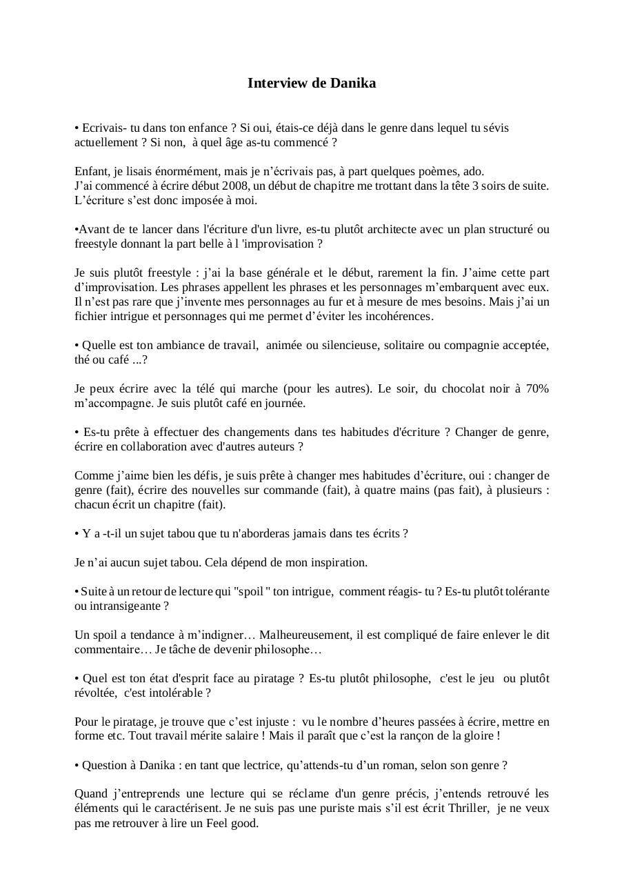 Aperçu du document Interview-Danika FJ.pdf - page 1/2
