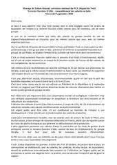 message de fabien rousselverrerie ouvriere dalbi  rassemblement