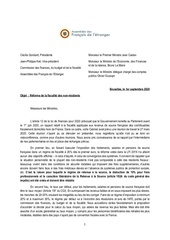 reaction au rapport sur la fiscalite lettre