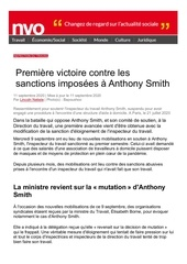 premiere victoire contre les sanctions imposees a anthony smith