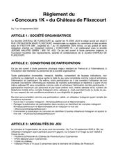 reglement concours 1k   chateau de flixecourt