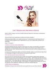 7 conseils pour des beaux cheveux