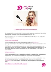 7 conseils pour des cheveux sans noeuds