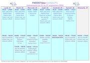programme parenthese enfants du 21 septembre au 4 octobre 2020