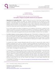 2020 09 21les leaders religieux du quebec denoncent une injustic