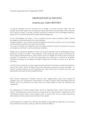 motion proposee ce soir 21 septembre 2020  par andre boudes cons