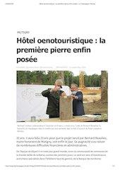 hotel oenotouristique la premiere pierre enfin posee  la champag