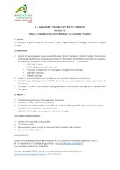 offre conseiller elevage 20203