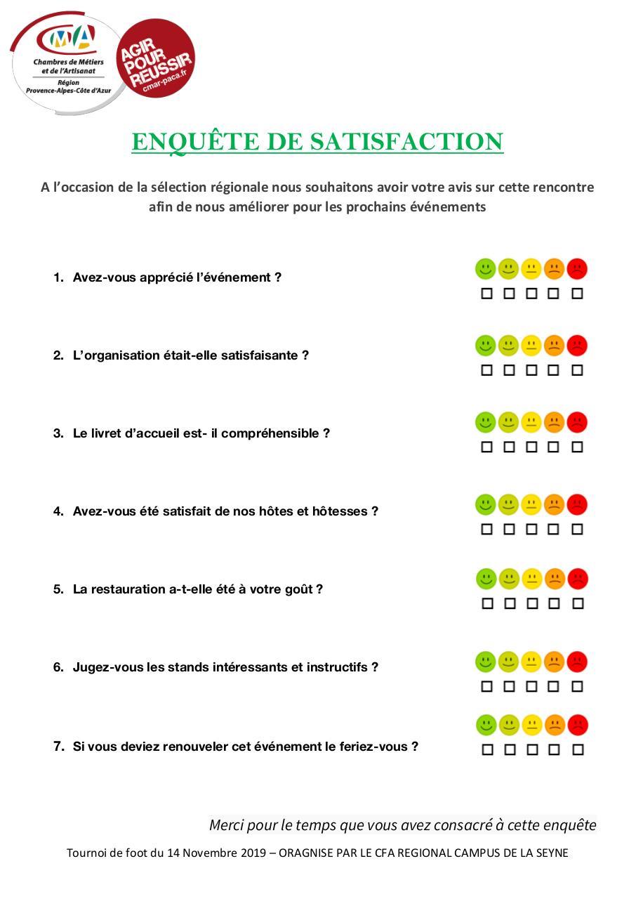 ENQUÊTE DE SATISFACTION - Fichier PDF