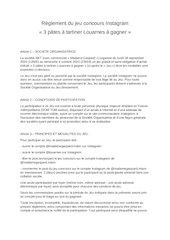 reglement du jeu concours instagram madame gaspard