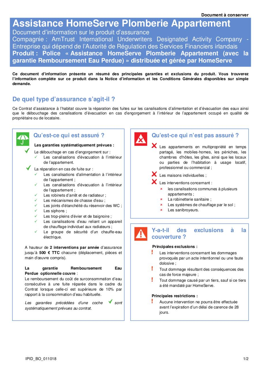 Aperçu du document 20180101_IPID_PROPRIETAIRE MAISON.pdf - page 1/2
