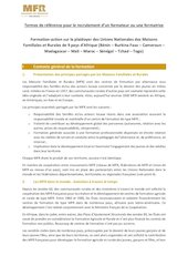 tdr recrutement formateurtrice   formation action plaidoyervf