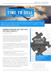 time to sell n4 comment conclure une vente avec des etapes simpl