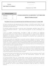 motion vote a lunanimite par le  conseil municipal de saint beno