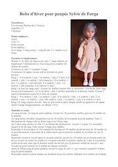 robe dhiver pour sylvie   furga 43cm