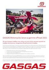 gasgas motorcycles lance sa gamme offroad 2021
