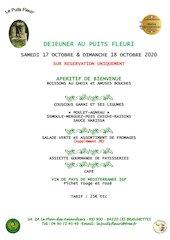 dejeuner couscous samedi 17 et dimanche 18 octobre 2020