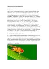 levolution des drosophiles mutantes
