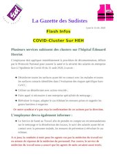 la gazette des sudistes flash covid cluster 13 ocotobre 2020