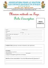 confirmation mission medicale togo 2021