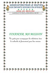 financer ma mission apseda 2021